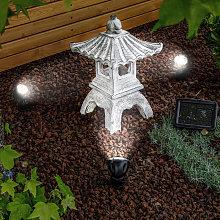 Pagoda solare con faretto LED 6500K. Illuminazione