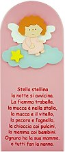 Pala bassorilievo Stella Stellina in legno