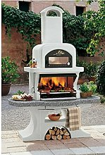 PALAZZETTI Barbecue a Legna carbonella Capri 2 con