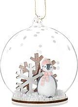 Pallina di Natale in vetro decorazione pinguino e