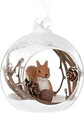 Pallina di Natale in vetro decorazione scoiattolo