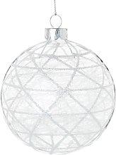 Pallina di Natale in vetro decorazioni grafiche