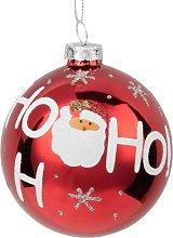 Pallina di Natale in vetro rosso decorazioni Babbo