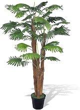 Palma Artificiale Nana con Vaso 180 cm - Verde -