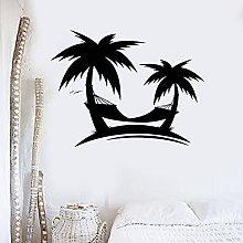 Palme Spiagge Adesivo murale Arte murale Vacanze