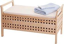 Panca contenitore HWC-B61 design decorativo legno