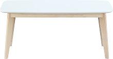 Panca design 100cm bianco e legno LEENA