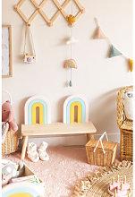 Panca in legno Mini Rainbow Kids Legno Naturale