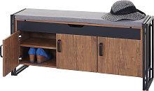 Panca panchina da interni HWC-A27 metallo legno