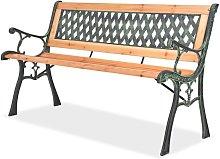 Panchina da Giardino 122 cm in Legno - Marrone -