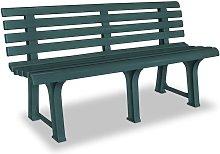 Panchina da Giardino 145,5 cm in Plastica Verde -