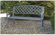 Panchina in ghisa midland cm128x56x85h grigio