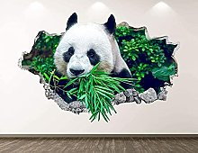 Panda al pascolo Decalcomanie da muro Decorazione