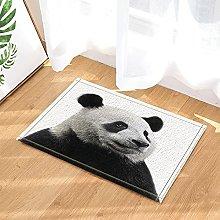 Panda carino in bianco e nero con decorazione