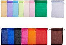 PandaHall 60 Pezzi 15 Colori Sacchetti di Organza