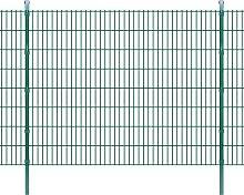 Pannello di recinzione 2D giardino con paletti