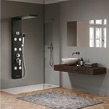 pannello per doccia in acciaio inox spazzolato con