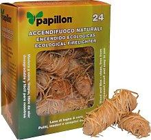 Papillon ACCENDIFUOCO 24pz Naturale per Barbecue