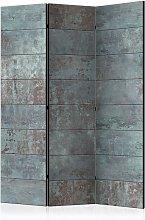 Paravento 3 Pannelli - Turquoise Concrete