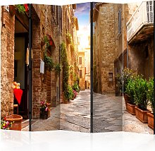 Paravento 5 Pannelli - Colourful Street In Tuscany