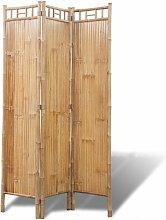Paravento a 3 Pannelli in Bambu