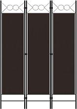 Paravento a 3 Pannelli Marrone 120x180 cm -