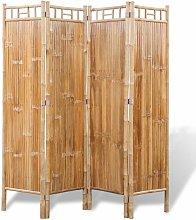 Paravento a 4 Pannelli in Bambu