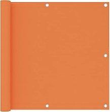 Paravento Balcone Arancione 90x400 cm Tessuto