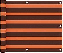 Paravento Balcone Arancione e Marrone 75x400 cm