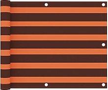 Paravento Balcone Arancione e Marrone 75x600 cm