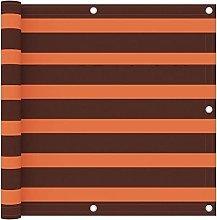 Paravento Balcone Arancione e Marrone 90x300 cm