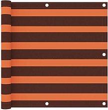 Paravento Balcone Arancione e Marrone 90x600 cm