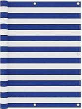 Paravento Balcone Bianco e Blu 120x500 cm in