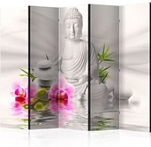 Paravento - Buddha and Orchids II [Room Dividers]