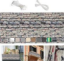 Paravento da balcone 75x1500cm ombreggiante per
