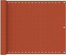 Paravento da Balcone Arancione 75x300 cm in HDPE -