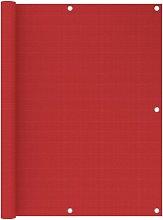 Paravento da Balcone Rosso 120x400 cm in HDPE -