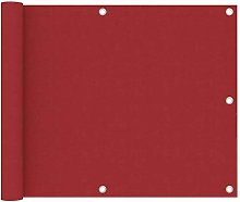 Paravento da Balcone Rosso 75x400 cm in Tessuto