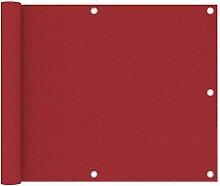 Paravento da Balcone Rosso 75x500 cm in Tessuto