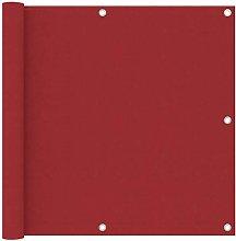 Paravento da Balcone Rosso 90x300 cm in Tessuto