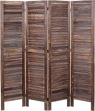 Paravento divisorio separè decorativo legno