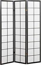 Paravento giapponese in maiolica nera e carta di