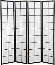 Paravento giapponese shoji in legno nerodi 4