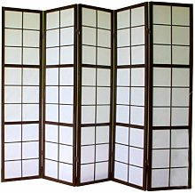Paravento giapponesi grandi vetri bosco nero e
