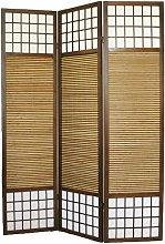 Paravento giapponse in legno con bambú de 3