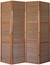 Paravento in legno marrone bambù Speciale taglia