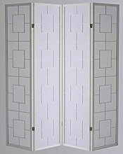 Paravento Kwai - Bianco / 4 Pannelli