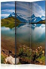 Paravento Lake with mountain reflection cm 135x172