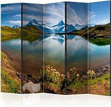 Paravento - Lake with mountain reflection,