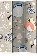 Paravento - Natural pattern with birds [Room